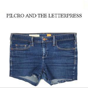 PILCRO & THE LETTERPRESS SERIF JEAN SHORTS (30)